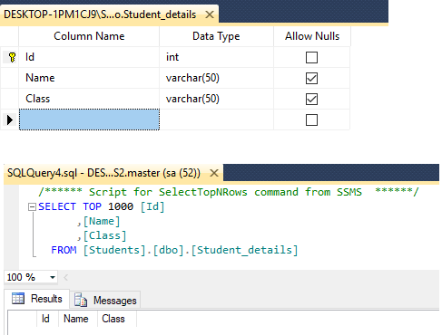 Import excel data in sql server database table using C# in ASP.NET MVC