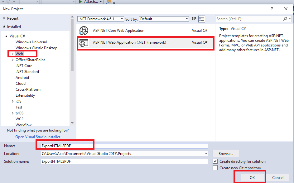 Export HTML to PDF in asp.net MVC using iTextSharp or Rotativa (Step by step explanation)