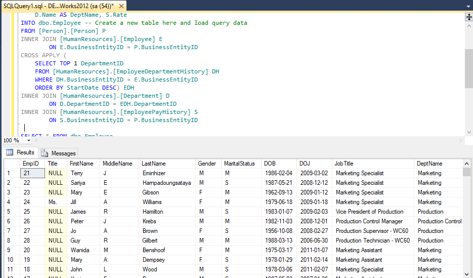 Aggregate Functions in SQL Server (SUM, AVG, COUNT, MIN, MAX)