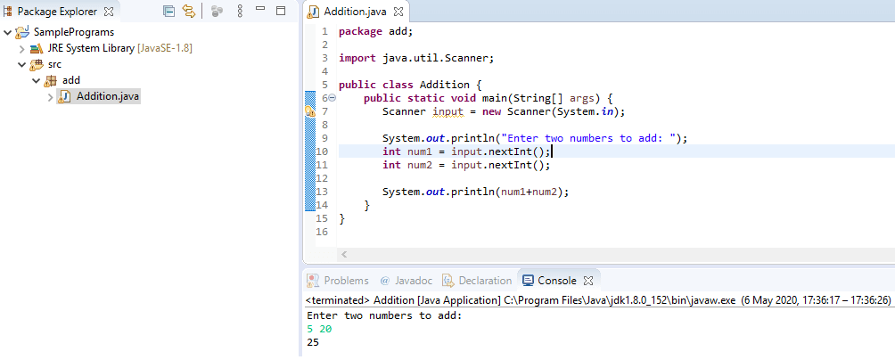 Various Java programming examples with output