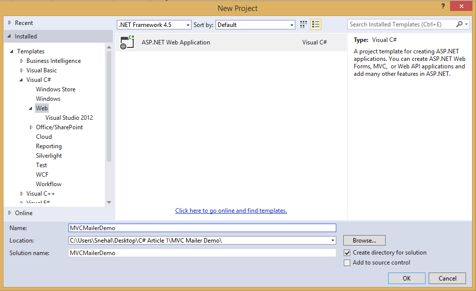 Send Emails in ASP.NET MVC using MvcMailer