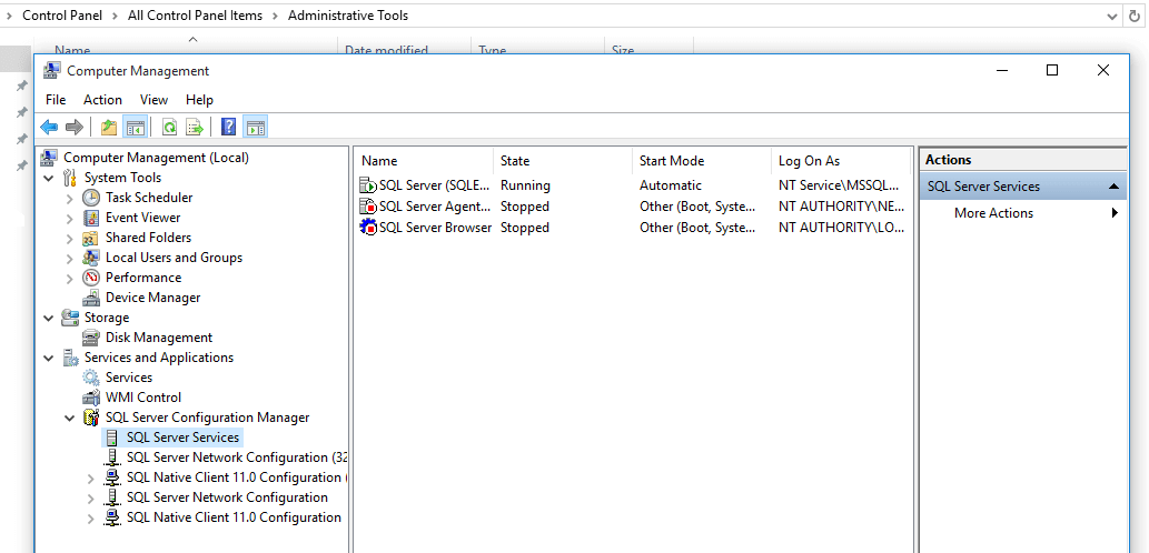 SQL - How to open sql server configuration manager in