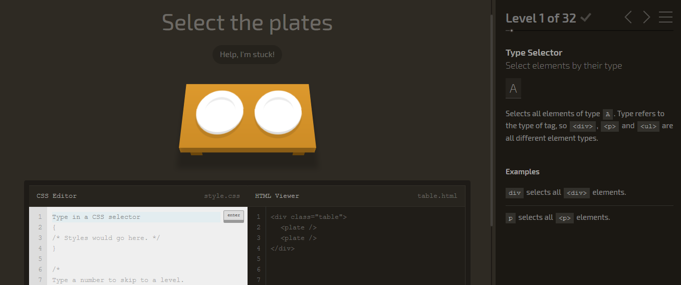 CSS-Diner-Tools-For-Learning-CSS