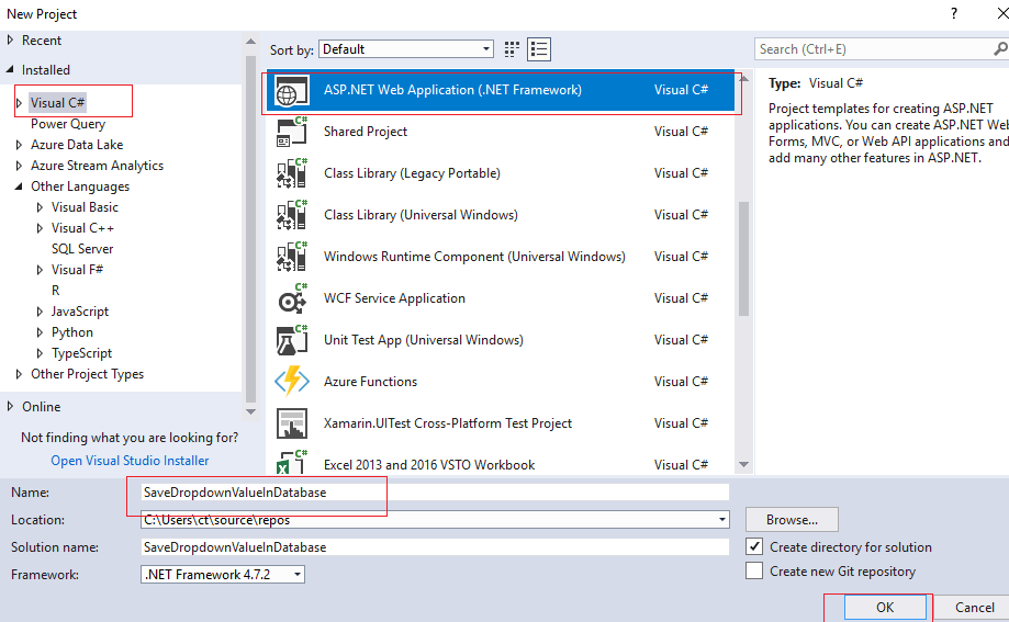 Save Selected Dropdown and Text value in database in ASP.NET Web-Forms