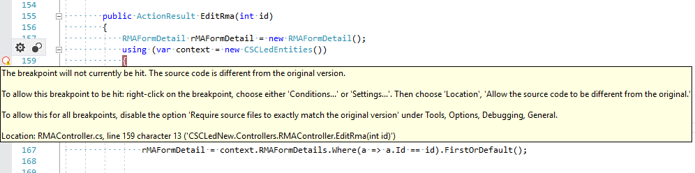 "Solving error ""the breakpoint will not currently be hit"" in Visual studio ( Multiple ways)"