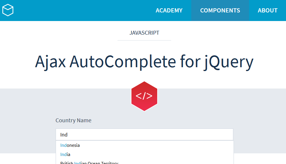 Ajax-AutoComplete
