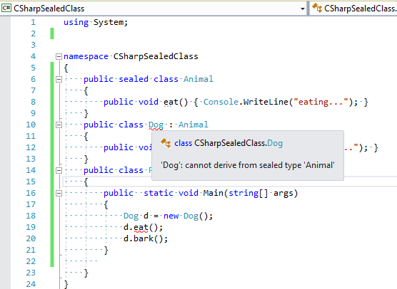 Sealed Class in C# (Explanation with example)