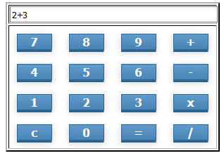 Create a simple calculator using Javascript