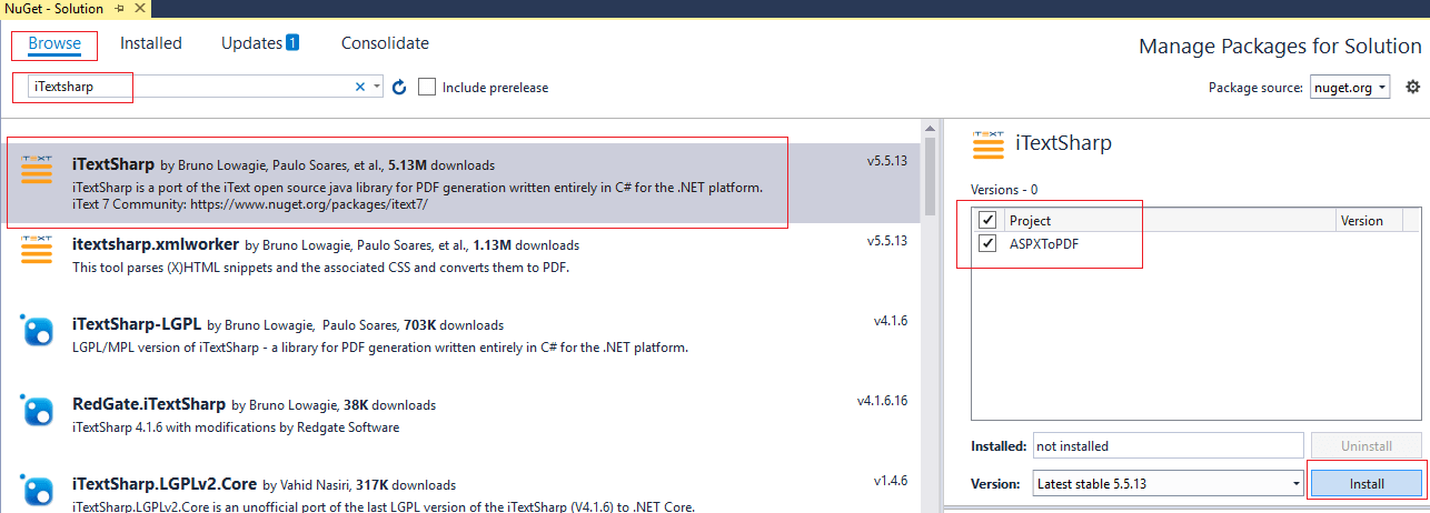 ASP NET - Convert ASPX page to PDF in ASP NET using