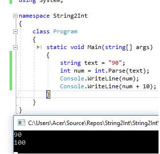 How to convert string to int in C#?