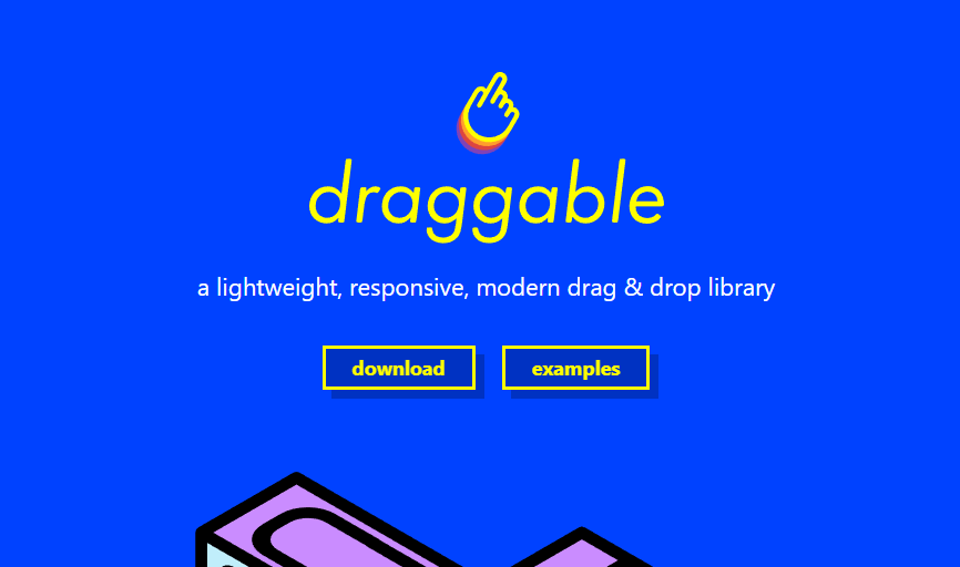 Best Javascript drag and drop library