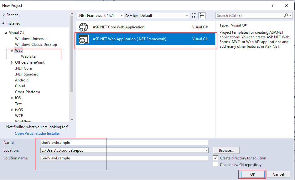 Understanding ASP.NET Gridview control with an example