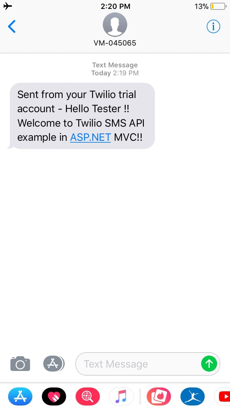 MVC - Sending SMS using Twilio API in ASP NET MVC - QA With