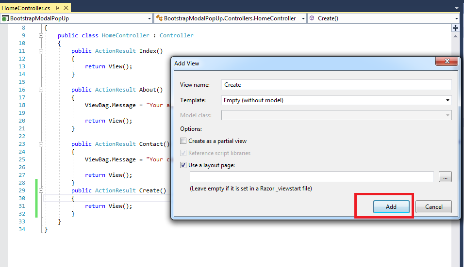 C# - Validate Pop Up Modal using Ajax Beginform in C# MVC - QA With